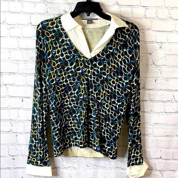 Josephine Chaus Pattern Sweater sz medium